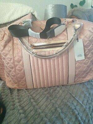 £39.99 • Buy River Island Pink Zip Front Quilted Weekend Bag Holdall New