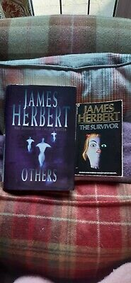 £1.99 • Buy 4 X JAMES HERBERT NOVELS - OTHERS, THE SURVIVOR, SEPULCHRE AND CREED