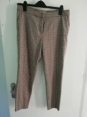 £1.50 • Buy H&M UK 12 EU 40 Check Smart Trousers Dogtooth Workwear Patterned Gingham