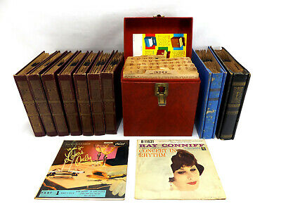 £39.83 • Buy 1950s 45 Rpm Record LOT Big Band Swing Jazz Standards Amfile Case Storage Book