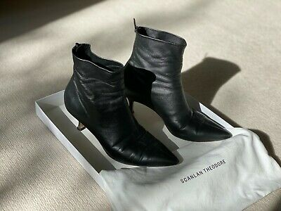 AU150 • Buy Scanlan Theodore Leather High Heeled Boots - Size: EU 37, AU/US 6.5 - Pre Owned