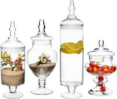 £71.67 • Buy Home Large Clear Glass Lid Apothecary Jars, Candy Buffet, Wedding Centerpiece