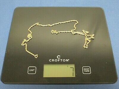 £51.50 • Buy 9ct Gold Rope Chain Necklace 7g. Approximately 24  Long.