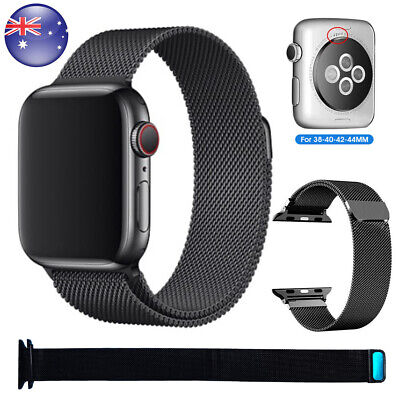 AU13.99 • Buy For Apple Watch Band Series 6 5 4 321 SE Magnetic Stainless Steel Milanese Strap