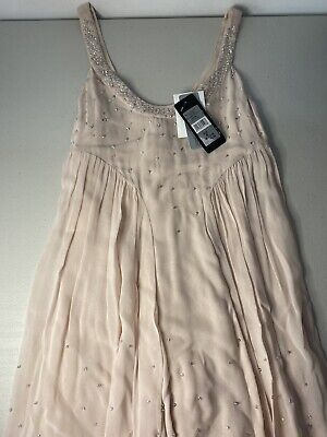 AU15 • Buy Forever New Size 6 Dress With Intricate Beading Pale Pink