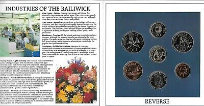 £5.50 • Buy  Guernsey1985 Brilliant Uncirculated Coin Collection 7 Coins In Dust Jacket
