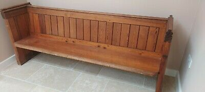 £52 • Buy Church Pew, Pitch Pine, Good Condition, 200cm Long.