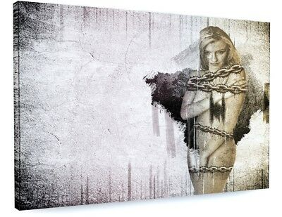 £72.69 • Buy Stunning Abstract Nude Model Chains Canvas Picture Print #3647