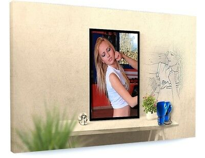 £72.70 • Buy Stunning Woman Model Mirror Art Canvas Picture Print #3683