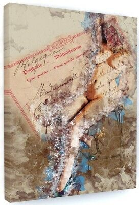 £27.94 • Buy Chic Vintage Style Nude / Model Canvas Picture Print Wall Art Large #2155