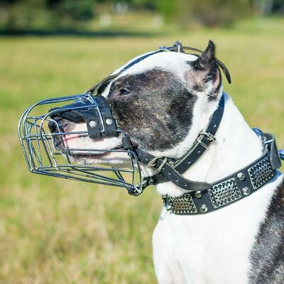 £36.50 • Buy Pitbull Muzzle Basket Padded Strong Metal Wire For Amstaff & Other Breeds 30Szs
