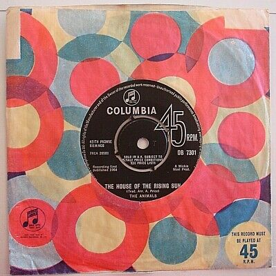 £3.99 • Buy The Animals The House Of The Rising Sun / Talkin' Bout You 1964 7  Vinyl V/g++