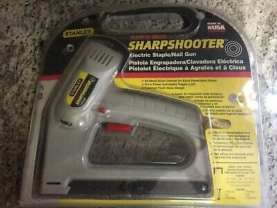 £14.36 • Buy Stanley TRE500 Sharpshooter Electric Staple / Brad Nail Gun With Staples