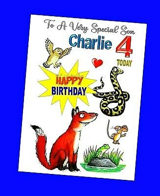 £3.49 • Buy Personalised Birthday Gruffalo Characters Son Grandson QUALITY CARD Verse Choice