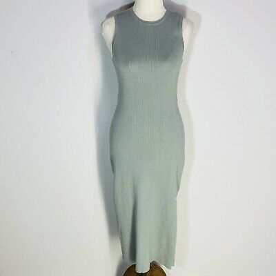 AU39.95 • Buy FOREVER NEW Womens Light Green Sleeveless Knit Fitted Pencil Dress Size 8