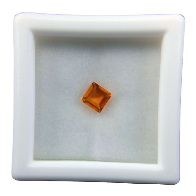 £14.02 • Buy AA Orange Mexican Fire Opal Loose Gemstone Square 0.21 Ct.
