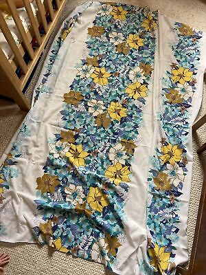£8 • Buy 60s 70s Retro Floral Table Cloth Original Vintage Floaty Curtain Large 145 X 180