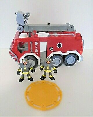 £9.99 • Buy Fisher Price Imaginext Fire Engine 2 Firemen And Catch Blanket Lights/sound