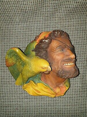 £12 • Buy Vintage Bossons Plaster Chalk Figure Head With Parrot  Bird . Wall Plaque.