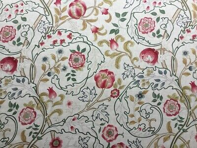$35.41 • Buy William Morris Curtain Fabric  Mary Isobel  1.6m Pink/ivory 100% Linen
