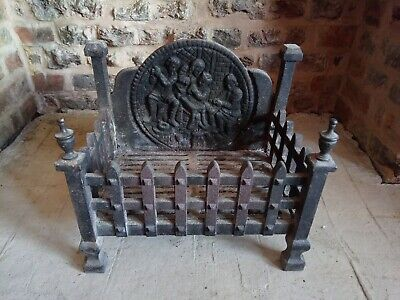 £100 • Buy Cast Iron Fire Basket With Integrated Fire Back