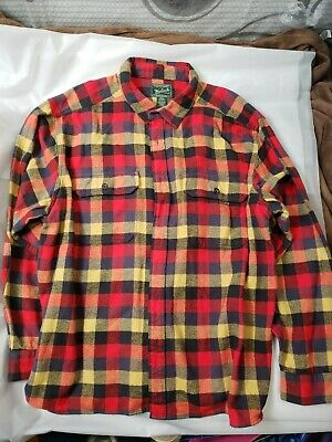 $20 • Buy Woolrich Red Plaid Cotton Flannel Long Sleeve Shirt Size 3XL EUC