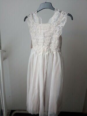 £30 • Buy BNWT Gold Lace Flower Girl Bridesmaid Party Occasion Dress Age 12-13