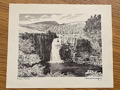 £25 • Buy Alfred Wainwright Signed Print - High Force