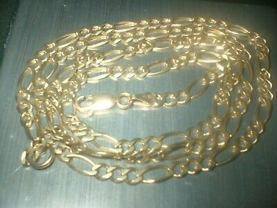 £169.99 • Buy 9ct GOLD FIGARO CHAIN  22  INCH Fully Hallmarked  LOBSTER FASTENER  7.50gm