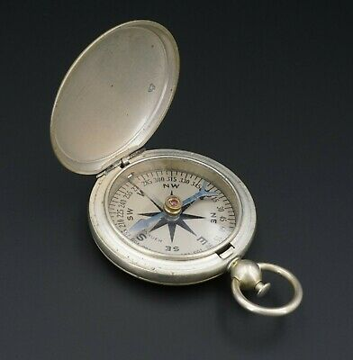 $219.74 • Buy Vintage Wittnauer US Military Pocket Compass 1940's WWII Navigational Tool M1383