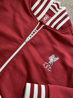 £19.90 • Buy Men's Retro Vintage Anfield LIVERPOOL Track Suit Top  Red  Size L