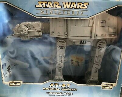 £80 • Buy Star Wars Miniatures AT-AT Imperial Walker Colossal Pack New