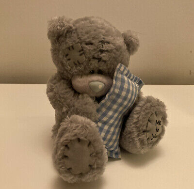 £3 • Buy Me To You Bear Soft Toy With Blue Gingham Pillow Carte Blanche Tatty Teddy
