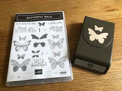 £15 • Buy Stampin Up Butterfly Gala Stamp Set And Punch