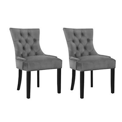 AU258.95 • Buy Artiss Set Of 2 Dining Chairs French Provincial Retro Chair Wooden Velvet Fabric