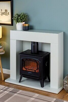 £75 • Buy STUDIO EGL Electric Fire Suite 1800W White Surround NEW (Other)