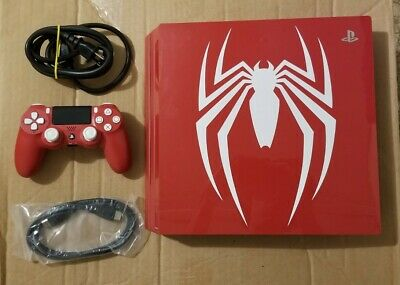 AU607.99 • Buy Sony PS4 PRO Spider-Man 1TB Red Console W/ Controller Playstation 4