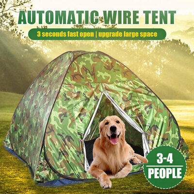 AU30.37 • Buy 1-4 Person Waterproof Camping Tent Double Layer Family Outdoor Hiking+Carry Bag