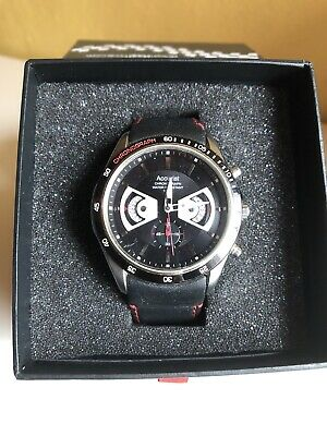 £24.26 • Buy Accurist Grand Prix Chronograph Watch MS645. Black & Red Leather Strap. Boxed