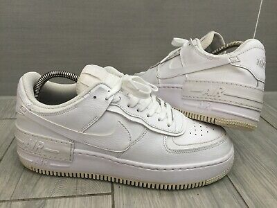 £25 • Buy WHITE LEATHER NIKE Air Force 1 SHADOW SNEAKERS, UK 8/42.5