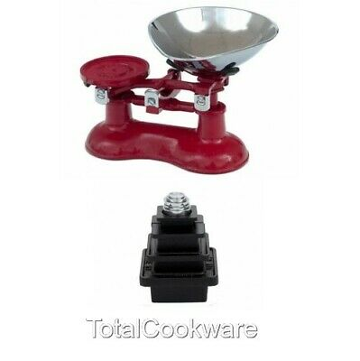 £99.95 • Buy Victor Traditional Cast Iron Kitchen Scales In Chilli Red And Metric Weights