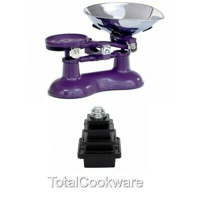 £99.95 • Buy Victor Traditional Cast Iron Kitchen Scales In Berry Purple And Metric Weights