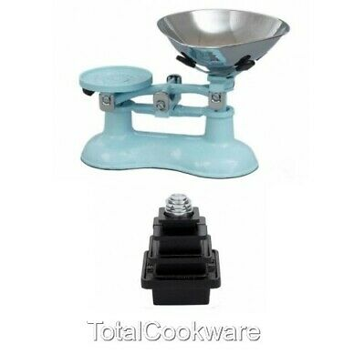 £99.95 • Buy Victor Traditional Cast Iron Kitchen Scales In Pale Blue And Metric Weights