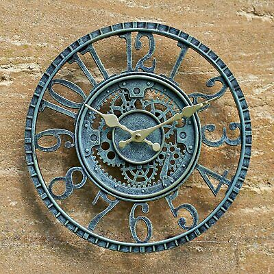£19.95 • Buy Large Outdoor Garden Wall Clock Big Giant Open Face Metal Battery Operated