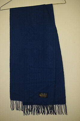 $4.99 • Buy Snow Lotus Cashmere Man's Scarf, Blue, Pre-owned,