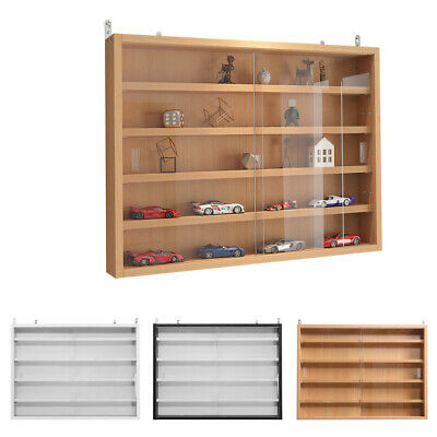 £64.95 • Buy Modern Wall Mounted Display Cabinet Glass Laminated Models Collections Shelf UK