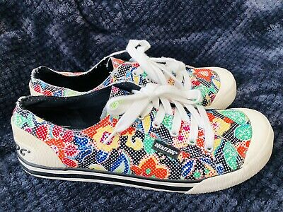 £17.99 • Buy Rocket Dog Multi Coloured  Floral Trainers Size 8 Flat Shoes