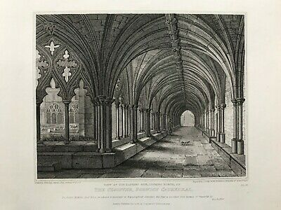£12.99 • Buy 1811 Antique Print; Norwich Cathedral Cloisters, Norfolk After J.A. Repton