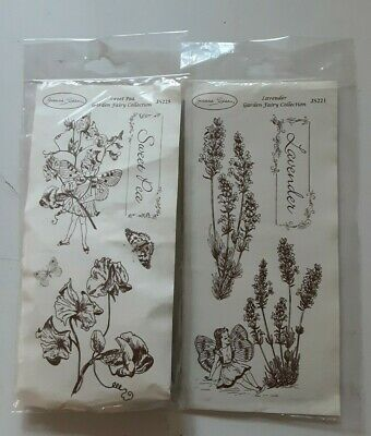 £9 • Buy 2 X Joanna Sheen Grey Rubber Stamps Garden Fairy Collection New/Sealed