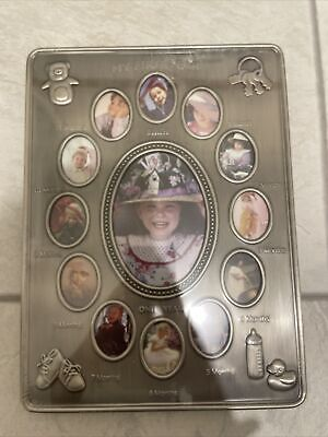 £2.99 • Buy Photo Frame Newborn Babies My First Year 13 Pictures Frame Silver - BNWT